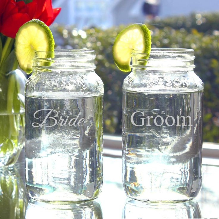 Redneck Wedding Mason Jar Cups Except I Want Wine Glasses With Bride