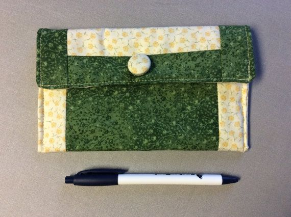 Small clutch glasses case makeup pouch tampon by MiddleSisterWorks