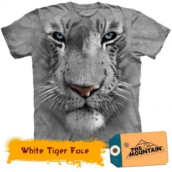 Tricouri The Mountain – Tricou White Tiger Face
