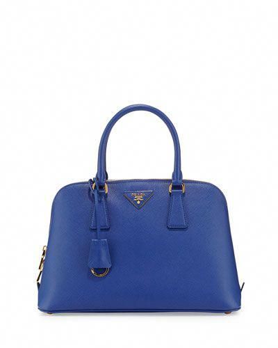 Prada Medium Saffiano Promenade Bag Blue Royal Pradahandbags