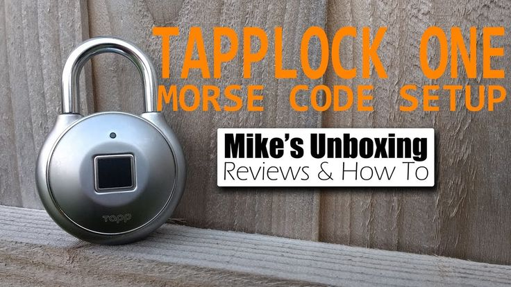 Tapplock one morse code setup from the Android app