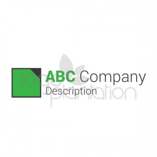 This logo is of a square icon with one corner balcked out. Located to the left of the company name. The logo is supplied with Open Source Google Fonts. The file formats provided is EPS. See more at http://www.logoplantation.com/shop/square-without-corner/