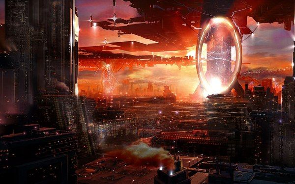 Sci-Fi арты Sci-Fi, научная фантастика, арт, длиннопост, Обои на рабочий стол