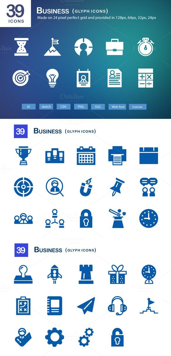 39 Business Glyph Icons Perfect Resume $1300 Perfect Resume - perfect business resume