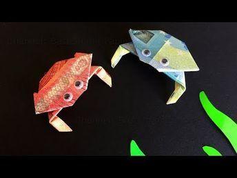 25 + › WICKELKREBS AUS GELD, KREBS aus Banknote basteln, Origami Anleitung – YouTub …