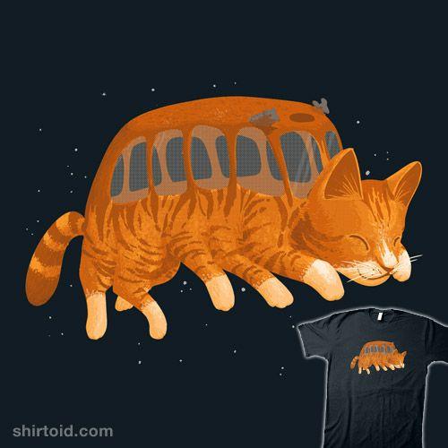 Cat Bus IRL   Shirtoid #anime #cat #catbus #cats #film #michaelholmes #mikiekwoods #movie #myneighbortotoro #nekobasu #wearviral