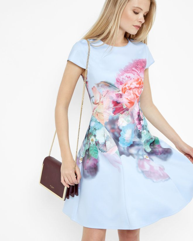 Focus Bouquet skater dress - Pale Blue | Dresses | Ted Baker UK