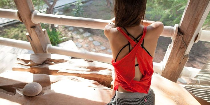 Mat tested for your moving, breathing, namaskaring delight.  Love the back on the 100% organic Drift Yoga Tank. Layer over a Radiance Bralette. Designed by WE-AR an ethical yoga wear and fashion brand from New Zealand. Made in Bali with love. Shop online: we-ar.com