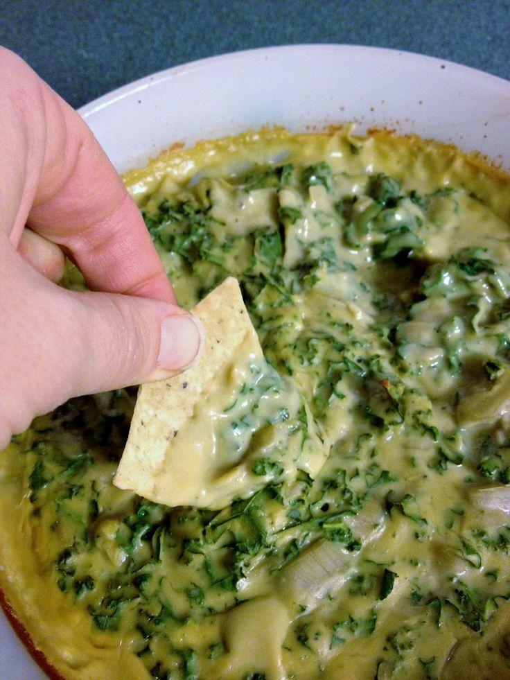 Kale Artichoke Dip - Gluten and Dairy Free
