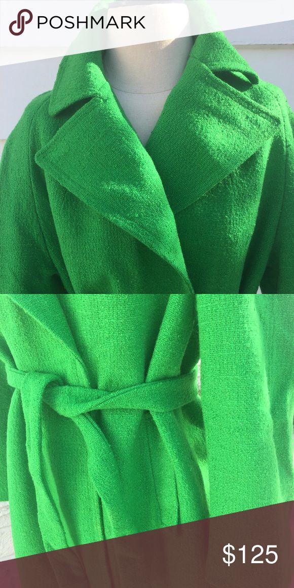 👓VINTAGE FIND: green wool trench Beautiful VINTAGE find : John Wanamaker Wool Green Trench Coat , made in Steven Forstmann Fabric comes in a fantastic shade of emerald green! john wanamaker Jackets & Coats Trench Coats