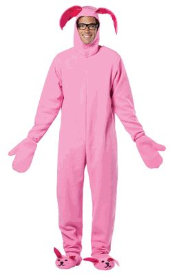 Adult Christmas Pink Bunny Costume