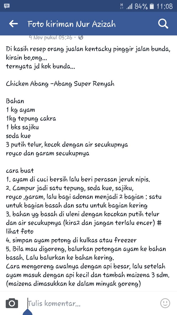 Ayam krispi step 1