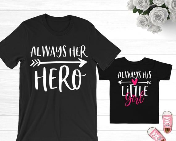 Dad of Girl and Daddys Little Girl Shirt Daddy and Daughter Shirts