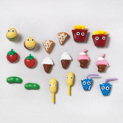 Fast Food Studs Set | Claire's