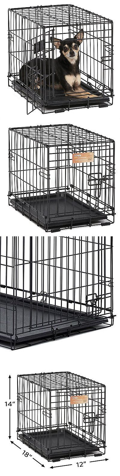 Animals Dog: Dog Pet Crates Crate Single Door Training Iron Travel Cage Cat Small Safe Fold -> BUY IT NOW ONLY: $33.7 on eBay!