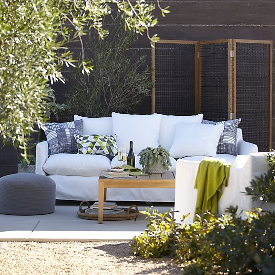 Catalina Sofa With Casters In Catalina/Canyon | Crate And Barrel. Porch  FurnitureOutdoor ...
