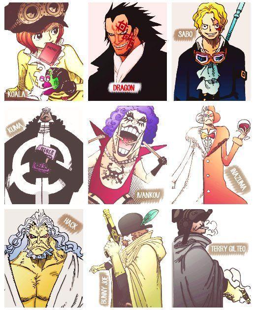 ONE PIECE The Revolutionary Army, Koala, Dragon, Sabo, Kuma, Ivankov, Inasuma, Hack, Bunny Joe, Terry Gilteo