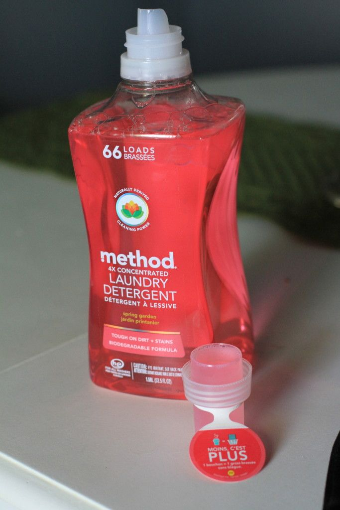 method laundry detergent is 4x concentrated so that you don't have to use as much detergent on each load. #clevermethod #stylebymethod #sponsored @method