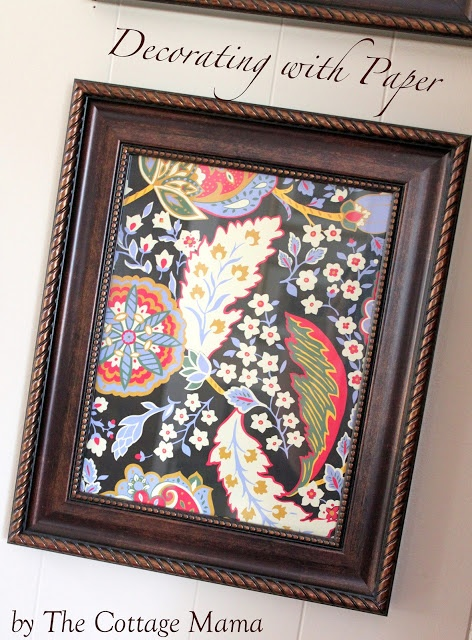 The Cottage Home: Inexpensive Wall Art ~ Decorating with Paper #crafts #diy #art