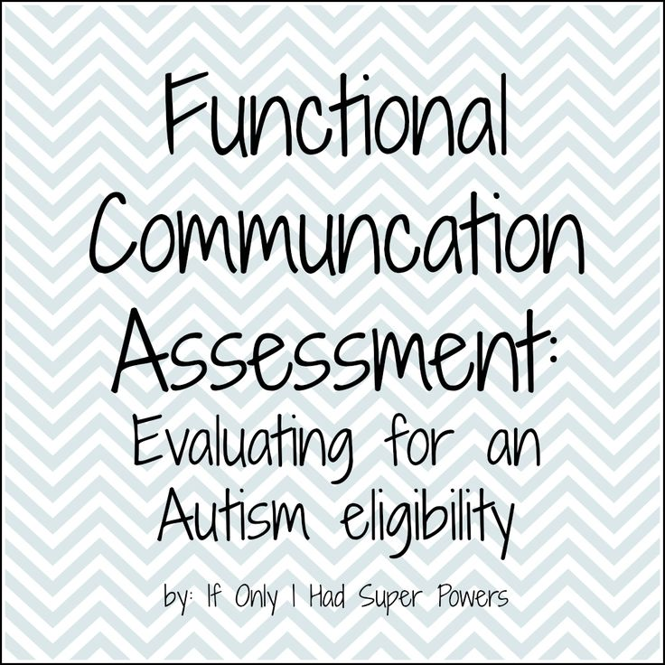 Great structure for assessing language and communication for kids with ASD