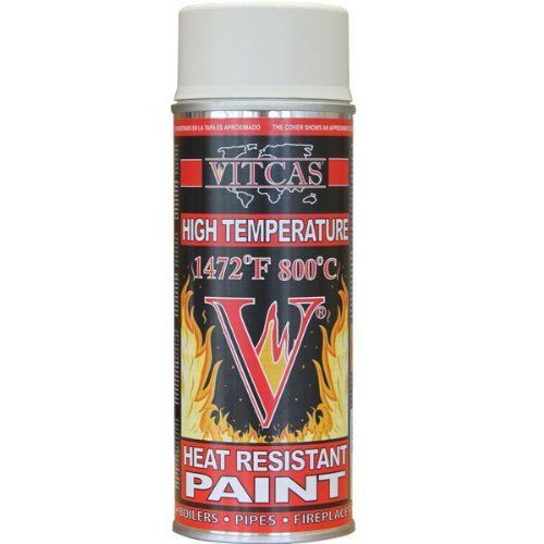 VITCAS Heat Resistant Paint-High Temparature Spray-Cream 800 C, http://www.amazon.co.uk/dp/B0046428FQ/ref=cm_sw_r_pi_awdl_QRnaxb0ZF8B8F
