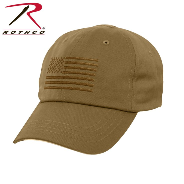Tactical Operator Cap With US Flag - Coyote