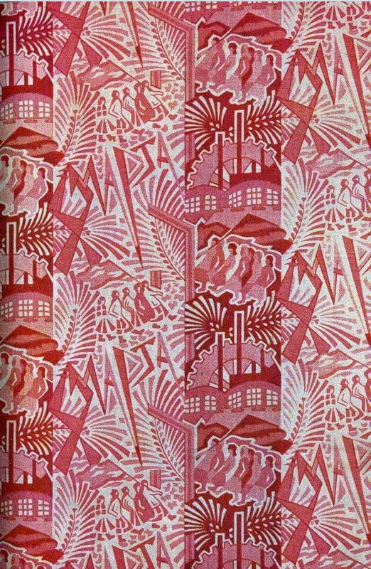 "Russian Propaganda fabric textile patterns and designs, ca. 20-30s, ""8th March""."