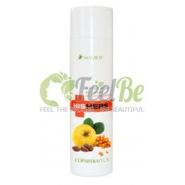 Magiray Copaifera plus balsam-shampoo, 250 ml: Magiray HisHers Line: Natural shampoo with the action antidandruff and seborrhea saturated fruit and berry extracts, such as patented complex Beracare , that relieves irritation and redness of the scalp. Magiray Copaifera plus balsam-Shampoo soothes the scalp, strengthens roots, increases the elasticity of the hair and gives it a healthy shine and fluffiness.