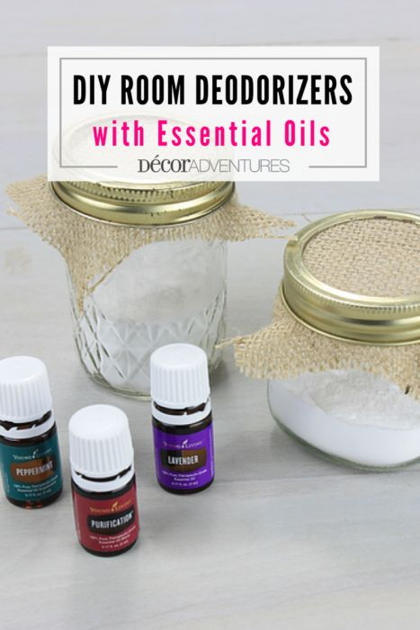 Get the stink out of your rooms with only two ingredients and supplies you have at home. Make these DIY Room Deodorizers with Essential Oils today!