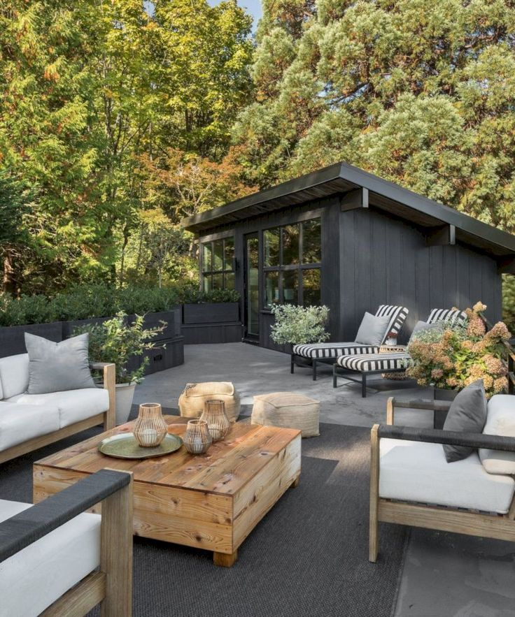 48 design ideas for the outdoor area that you can …  48 exterior design ideas to try in your dream home  #try out #designideen #enbereich #gardenideas