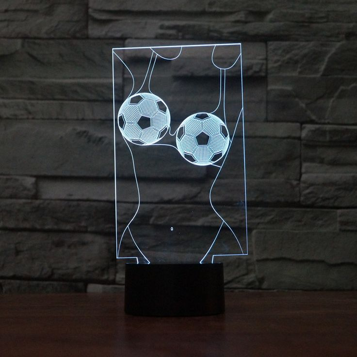 Touch Switch Decorative lighting Atmosphere Colorful USB Football girl Table Lamp Luminaria 3D LED Night Light Remote Control
