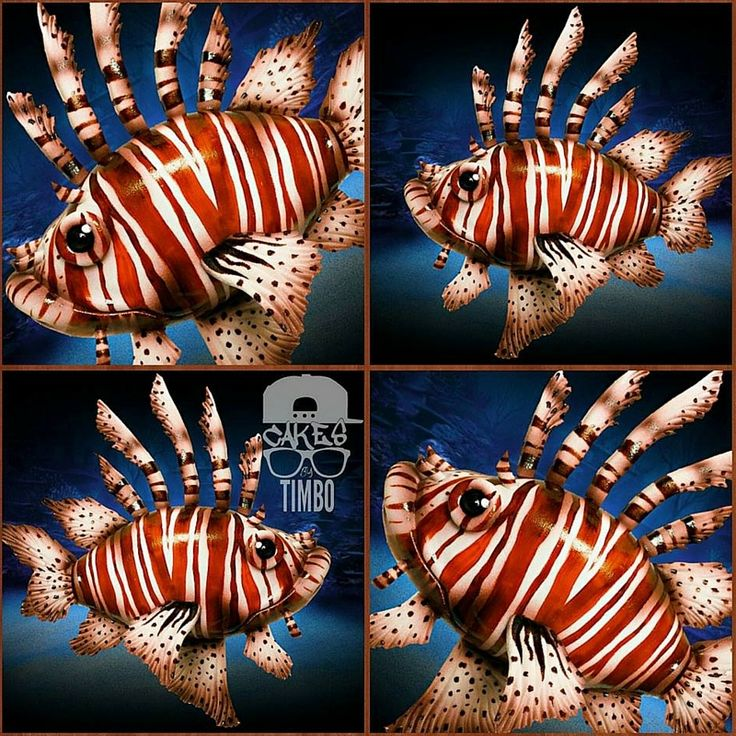 Lion Fish Cake by Cake by Timbo........For more info, Please visit: https://cakerschool.com/