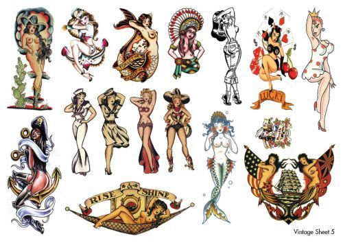15 best images about vintage tattoo designs on pinterest sailor jerry sailors and vintage - Mobeltattoo vintage ...