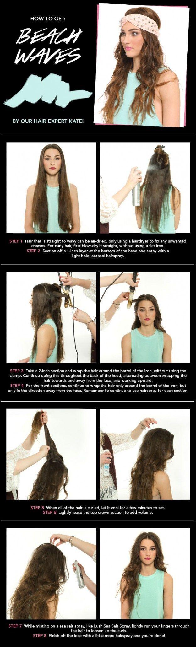 10 Boho Hair Tutorial For The Season Beach Waves Hair Style And Hair Inspiration