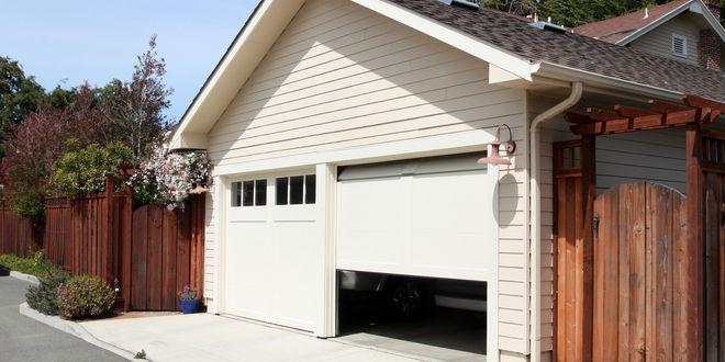 How To Level A Garage Door Garage Door Design Garage Doors Residential Garage Doors