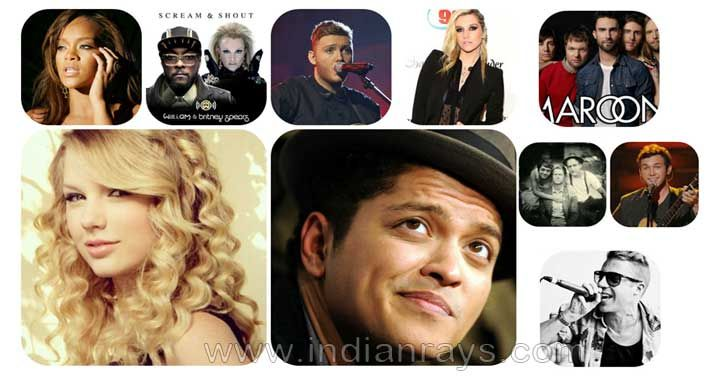 INDIAN RAYS TOP 10 ENGLISH SONGS OF THE WEEK