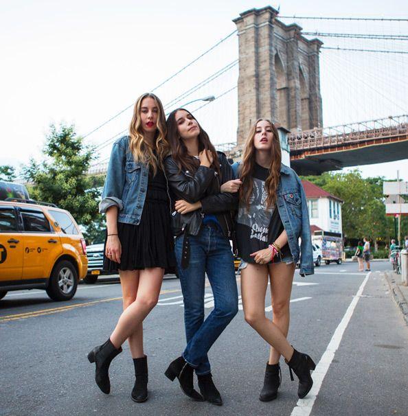 "Indie-Rock Trio Haim on Their ""Just Jamming"" Off-Stage Style"