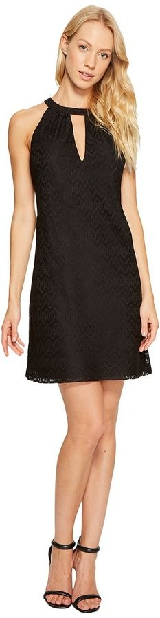 Jessica Simpson Halter Neck Lace Dress