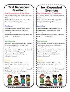 ELA / Literacy: Text-Dependent Questions