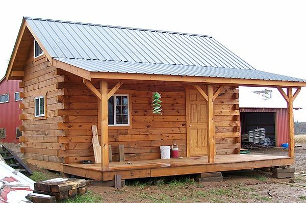 Pre built cabins cabin and amish community on pinterest for Rustic log home kits