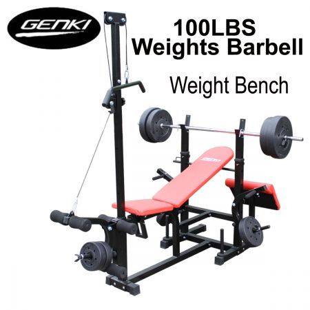 Genki Multi-Station Bench Press with Weights - Save 24% - Resistance Tube with Hand.