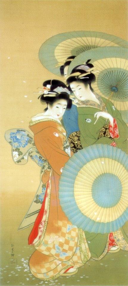 """Flower"" [花] by UEMURA, Shoen [上村松園] 1910"