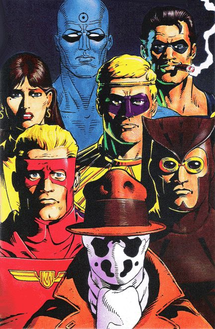 "Dave Gibbons pic of the ""Watchmen""."