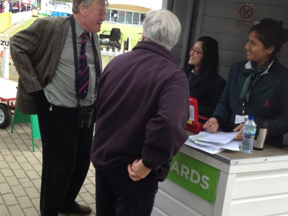 Member of Parliament Ken Clarke at Lords Cricket