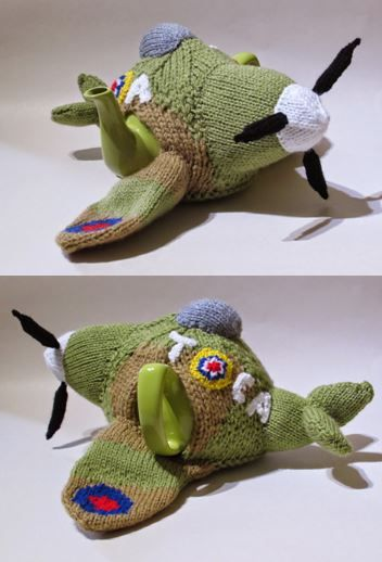 Spitfire Tea Cosy and Knitting Pattern zooming in for another cuppa!! http://www.teacosyfolk.co.uk/show.php?id=82