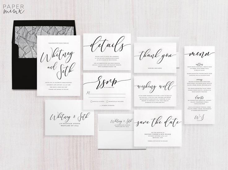 113 Best Printed Wedding Invitations Images On Pinterest