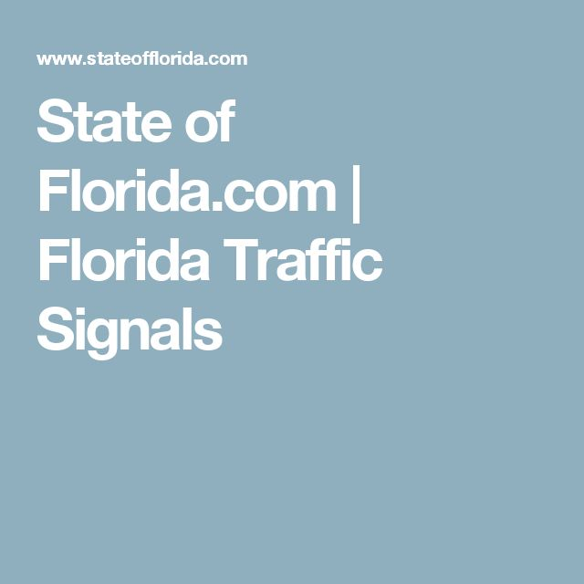 State of Florida.com | Florida Traffic Signals