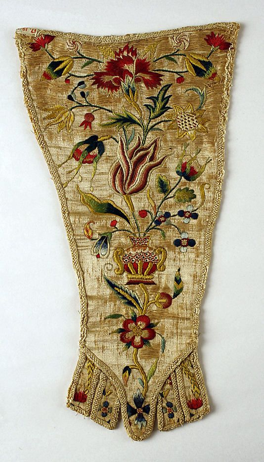 Stomacher  Date: 1700–1725 Culture: German Medium: silk