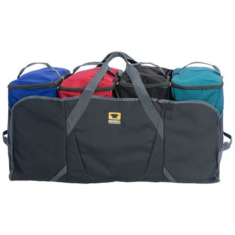 Mountainsmith Modular Haulers I have these in 3 and 4 module version.  Common size so even central market cooler bags fit.  Use 3 for food, 4 for kids clothes with a warm and cold bag for each kid.