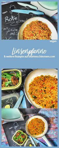 Rote Linsenpfanne Rezept mit frittiertem Sesamgemüse. #frittiert #rezept #gesunde #vegan #vegane #linsen #rote #linsenpfanne #pfanne #gemüse #leckere #gerichte #tchibo